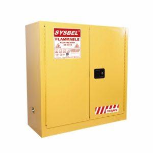 Tủ đựng hóa chất chống cháy 30 Gal – 114 lít, cửa tự đóng