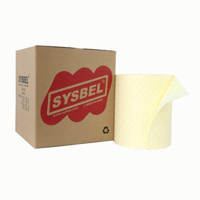 Cuộn thấm hút chất độc hại Hazmat (anti-acid và alkali, dung môi độc hại, chất ăn mòn), màu vàng Model: SCR001 Hãng sản xuất: Sysbel - Trung Quốc Xuất xứ: Trung Quốc