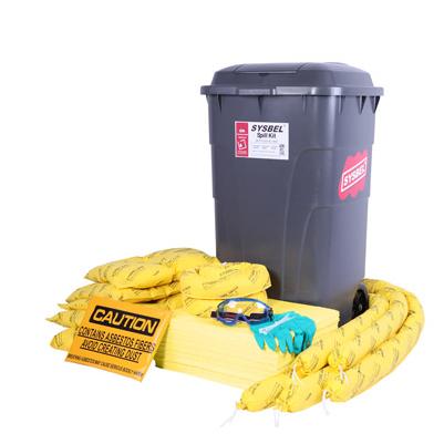 Bộ KIT ứng cứu khẩn cấp sự cố tràn hóa chất độc hại Hazmat (anti-acid và alkali, dung môi độc hại, chất ăn mòn) 95 Gallon, cho sự cố tràn hóa chất quy mô vừa, màu vàng Model: SKIT002Y Hãng sản xuất: Sysbel - Trung Quốc Xuất xứ: Trung Quốc