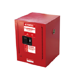Tủ chứa dung môi gây cháy Combustible Cabinet 4 Gallon – 15 lít, cửa tự đóng  Model: WA810041R Hãng sản xuất: Sysbel - Trung Quốc Xuất xứ: Trung Quốc
