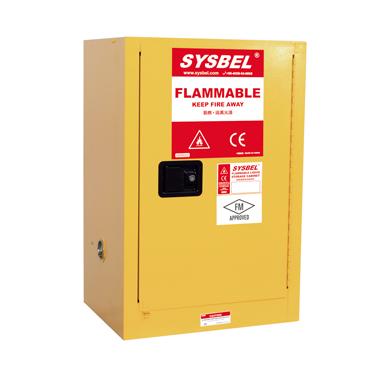 Tủ đựng hóa chất chống cháy 12 Gallon – 45 lít, cửa tự đóng Model: WA810120 Hãng sản xuất: Sysbel - Trung Quốc Xuất xứ: Trung Quốc