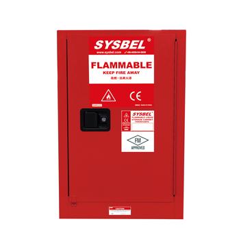 Tủ chứa dung môi gây cháy Combustible Cabinet 12 Gallon – 45 lít, cửa tự đóng Model: WA810121R Hãng sản xuất: Sysbel - Trung Quốc Xuất xứ: Trung Quốc