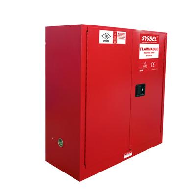 Tủ chứa dung môi gây cháy Combustible Cabinet 30 Gallon – 114 lít, cửa tự đóng Model: WA810301R Hãng sản xuất: Sysbel - Trung Quốc Xuất xứ: Trung Quốc