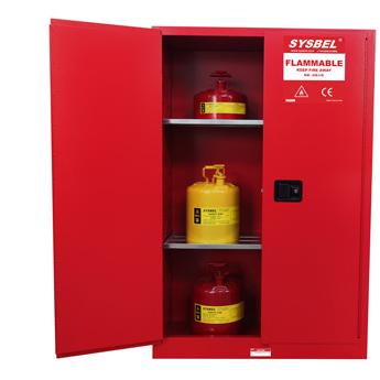 Tủ chứa dung môi gây cháy Combustible Cabinet 45 Gallon – 170 lít, cửa không tự đóng Model: WA810450R Hãng sản xuất: Sysbel - Trung Quốc Xuất xứ: Trung Quốc